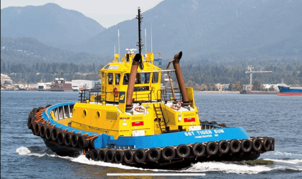 tug boat in the water